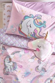 Pink Unicorn Duvet Cover and Pillowcase Set