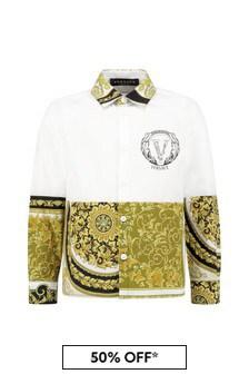 Versace Boys Gold Cotton Shirt