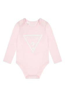 Guess Baby Girls Pink Cotton Bodysuit