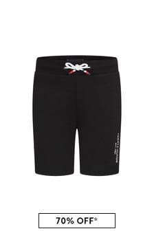 Tommy Hilfiger Boys Black Cotton Shorts