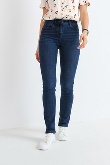 Dark Blue Power Stretch Slim Jeans