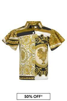 Versace Baby Girls Gold Cotton T-Shirt