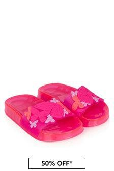 Sophia Webster Girls Pink Butterfly Jelly Sliders