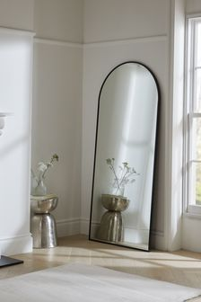 Charcoal Grey Extra Large Arch Mirror