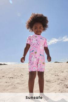 Pink Sunsafe Swim Suit (3mths-7yrs)