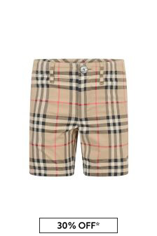 Burberry Kids Boys Vintage Check Tristen Relax Shorts