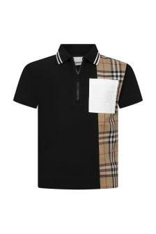 Burberry Kids Boys Cotton Polo Shirt