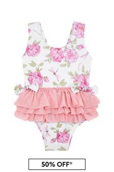 Monnalisa 아기 소녀 화이트 수영복