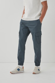 Grey Motion Flex Stretch Cargo Trousers