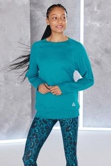 Teal Longline Sweatshirt