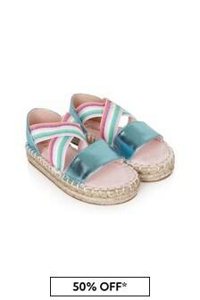 Billie Blush Girls Blue Sandals