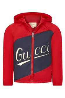 GUCCI Kids Boys Red Jacket