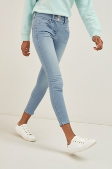 Bleach Cropped Lift, Slim And Shape Skinny Jeans