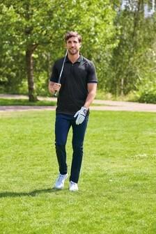 Black Next Active Golf Polo