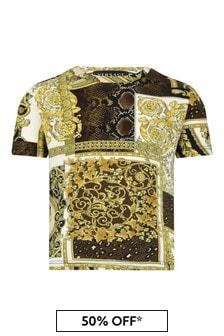 Versace Baby Boys Gold Cotton T-Shirt