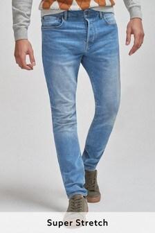 Bright Blue Super Stretch Comfort Jeans