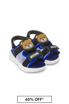 Moschino Kids Boys Leather Sandals