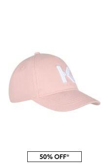 Kenzo Kids Girls Pink Cotton Hat