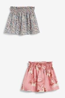 Pink Unicorn 2 Pack Jersey Printed Skirts (3mths-7yrs)
