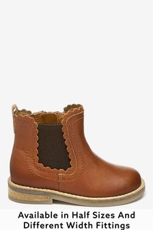 girls tan leather boots