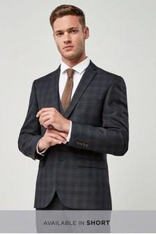 Blue/Tan Check Suit: Jacket