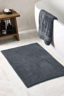 Charcoal Grey Bobble Bath Mat