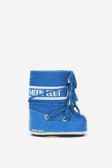 Moonboots Baby Boys Blue Mini Nylon Snow Boots