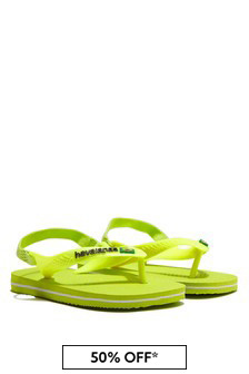 Havaianas Baby Boys Yellow Flip Flops