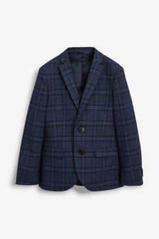 Navy Check Suit Jacket (12mths-16yrs)