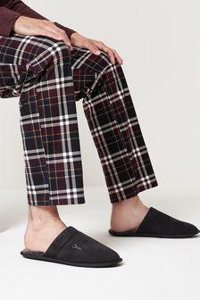 Black Stag Mule Slippers