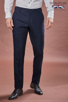 Navy Signature Birdseye Slim Fit Suit
