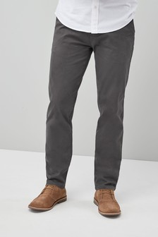 Dark Grey Stretch Chinos