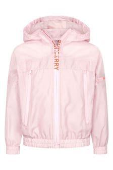 Burberry Kids Girls Pink Jacket