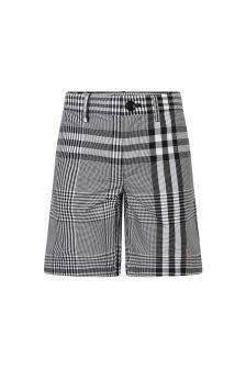 Burberry Kids Boys Black Cotton Shorts