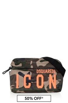 Dsquared2 Kids Green Camouflage Belt Bag