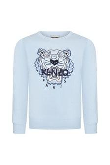Kenzo Kids Boys Blue Cotton Sweat Top