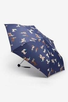 Navy Dog Printed Umbrella