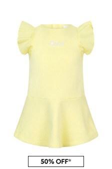 Chloe Kids Girls Yellow Cotton Dress