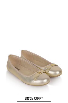 Michael Kors Girls Gold Ballerinas