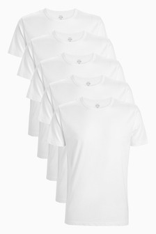 White T-Shirts Five Pack