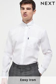 White Easy Iron Button Down Oxford Shirt