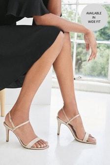 Shimmer Skinny Strap Simple Sandals