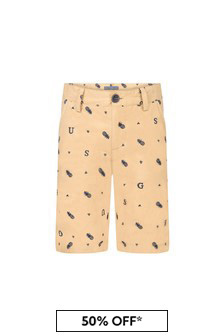 Guess Boys Beige Cotton Shorts