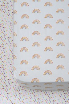 Multi 2 Pack Multi Rainbow Fitted Sheet