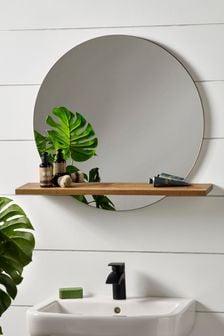 Natural Bronx Mirror with Shelf