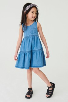 Denim Racerback Tiered Dress (3-16yrs)