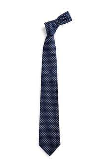 Navy Spot Pattern Tie