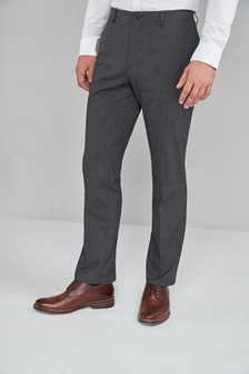 Charcoal Textured Trousers