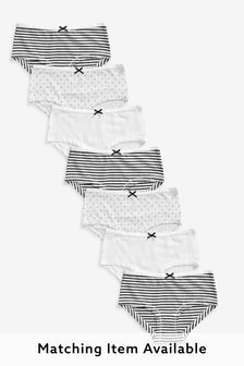 Monochrome 7 Pack Hipster Briefs (2-16yrs)