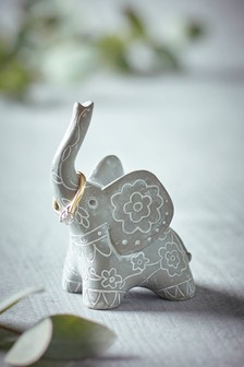 Grey Elephant Elephant Ring Holder